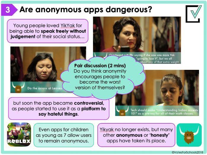 Do anonymous apps make bullying worse? Free KS3/KS4 Debate Lesson