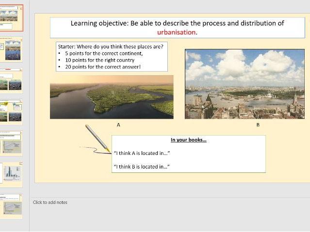 L1 - Urbanisation (Urban World)  [AQA GCSE Geography new spec]