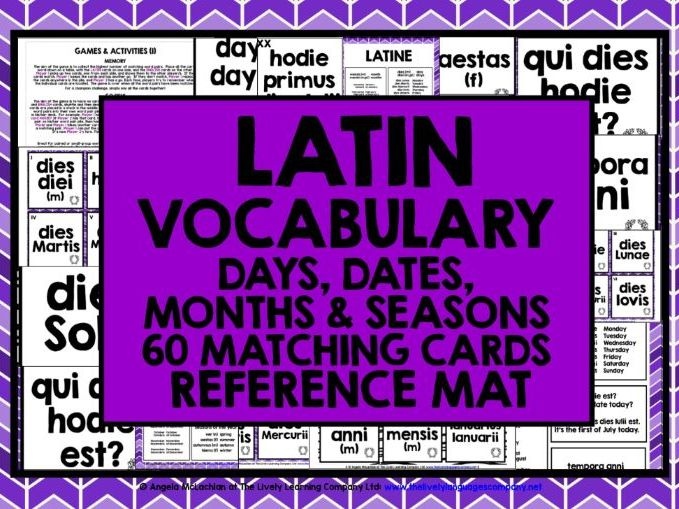 PRIMARY LATIN VOCABULARY CARDS 1