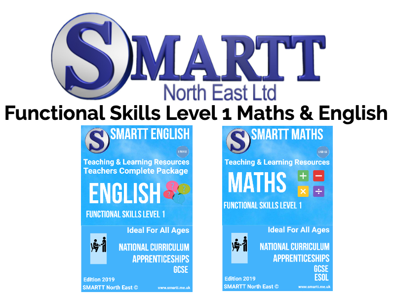 Functional Skills Level 1 English & Maths Complete Teacher/Tutor Package **(Special Offer)**