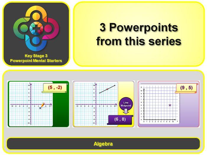 KS3 Maths Mental Starters:  Algebra – Co-ordinates