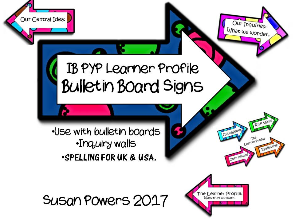 IB PYP Bulletin Board Signs for the Learner Profile