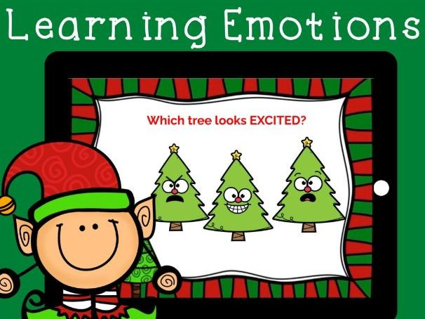 Learning Emotions BOOM CARDS, Holiday Edition