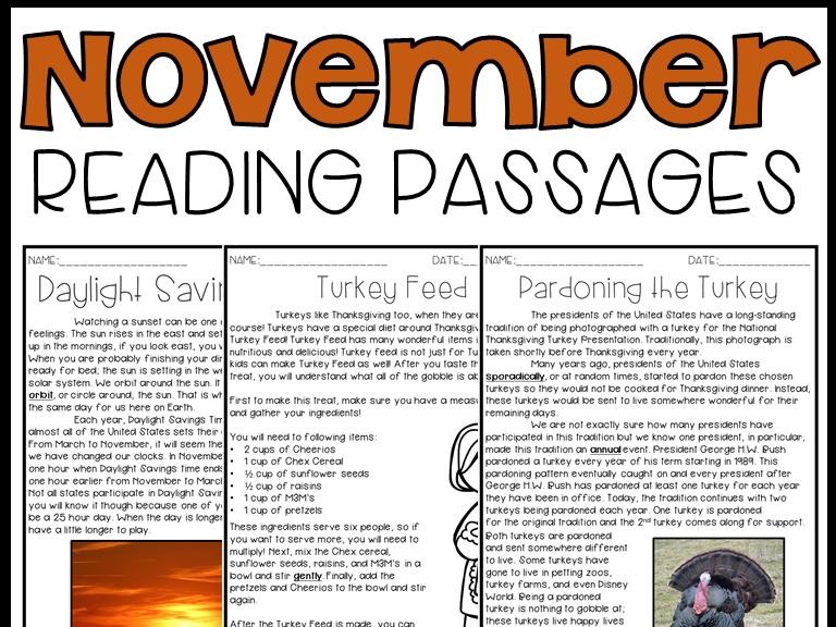Leveled Text: November