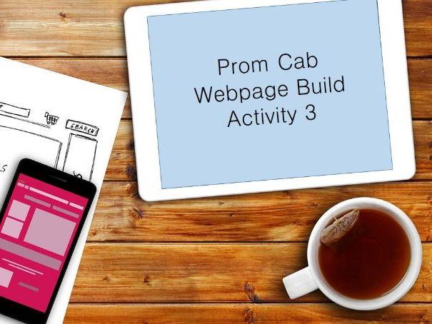 Prom CAB - Webpage Build - Video Guides - GCSE Edexcel ICT