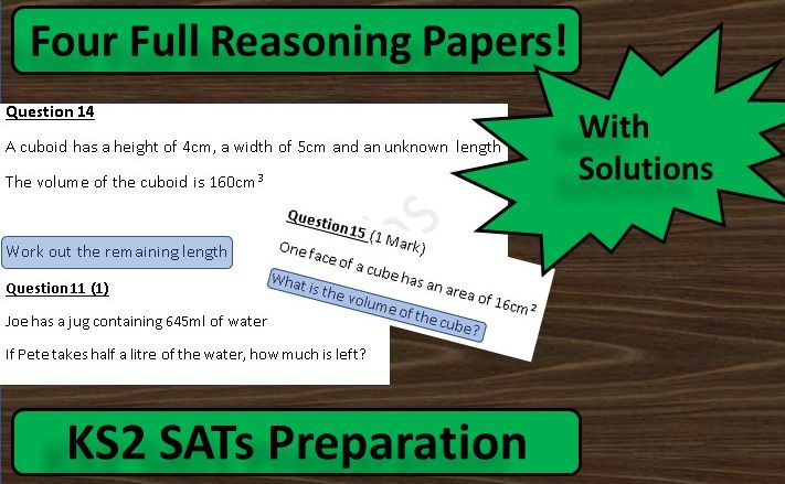 KS2 Maths SATs Reasoning Papers: 4 Paper Bundle
