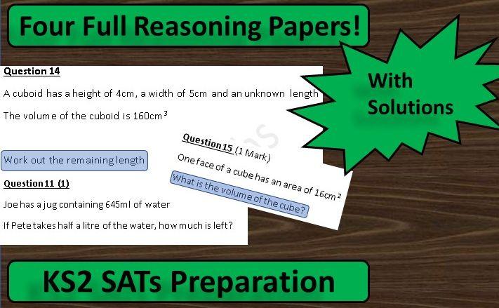 KS2 Maths SATs Reasoning Papers: 4 Paper Bundle
