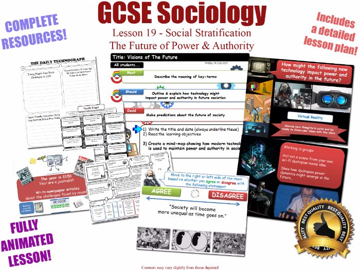 The Future of Power & Authority - Social Stratification -L19/20 [ WJEC EDUQAS GCSE Sociology ]
