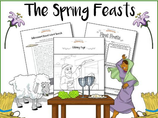 The Spring Feasts Bible Activity Book