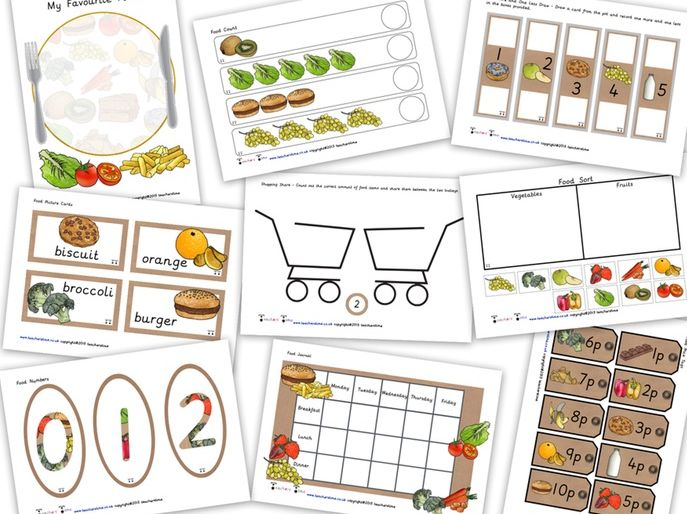 Food Resource Pack / Bundle Containing 20 Resources