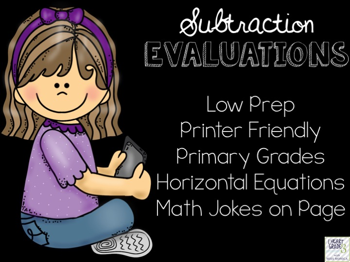 Basic Subtraction Facts Evaluations