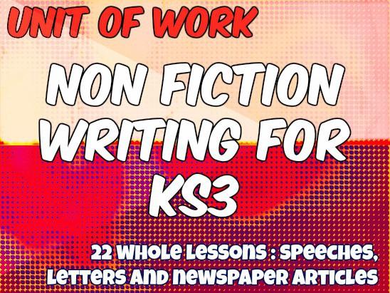 Unit of Work: Non-Fiction Writing (AQA English Language NEW SPEC 2016-17)