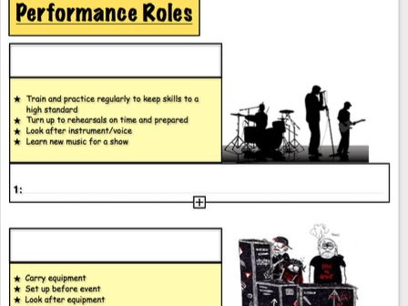BTEC MUSIC - Unit 1 'The Music Industry' - Job Roles