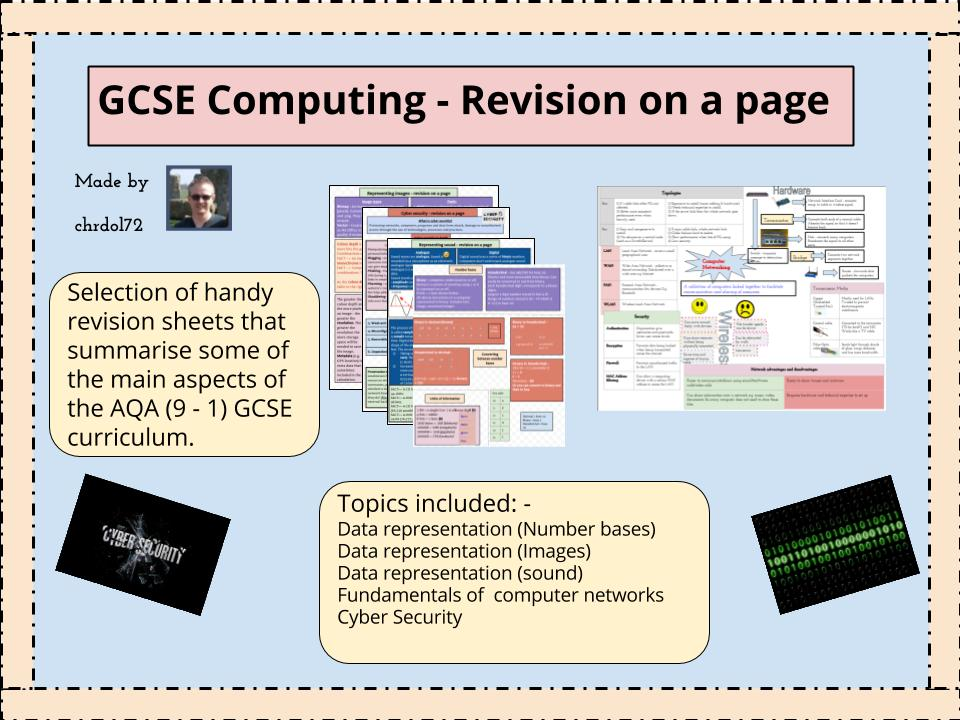 GCSE Computing: Revision on a page