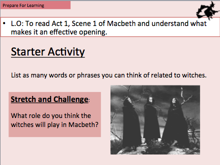 Macbeth opening scene - The witches. What makes it an effective opening?