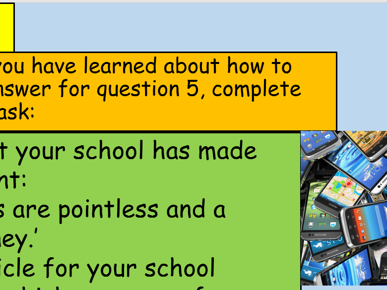 KS3 and 4 English Language Activities