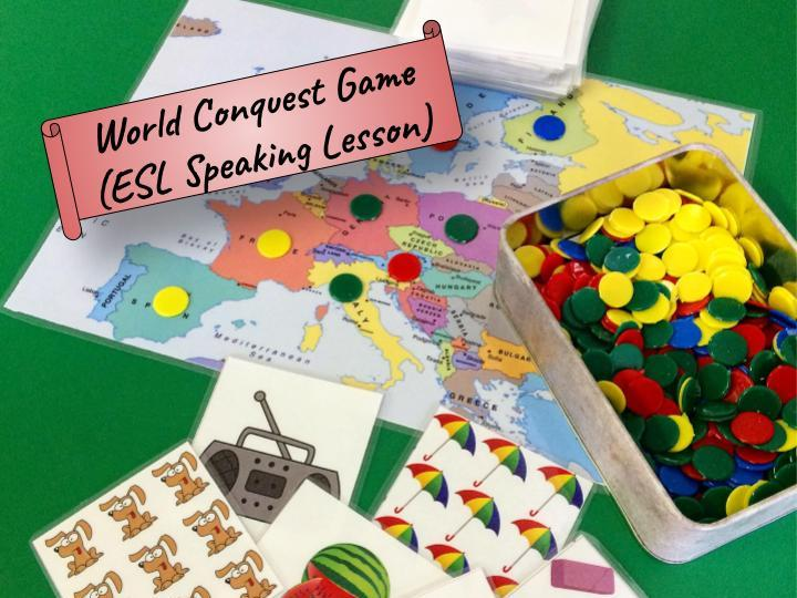 "World Conquest Game (""There is/There are"" - ESL)"