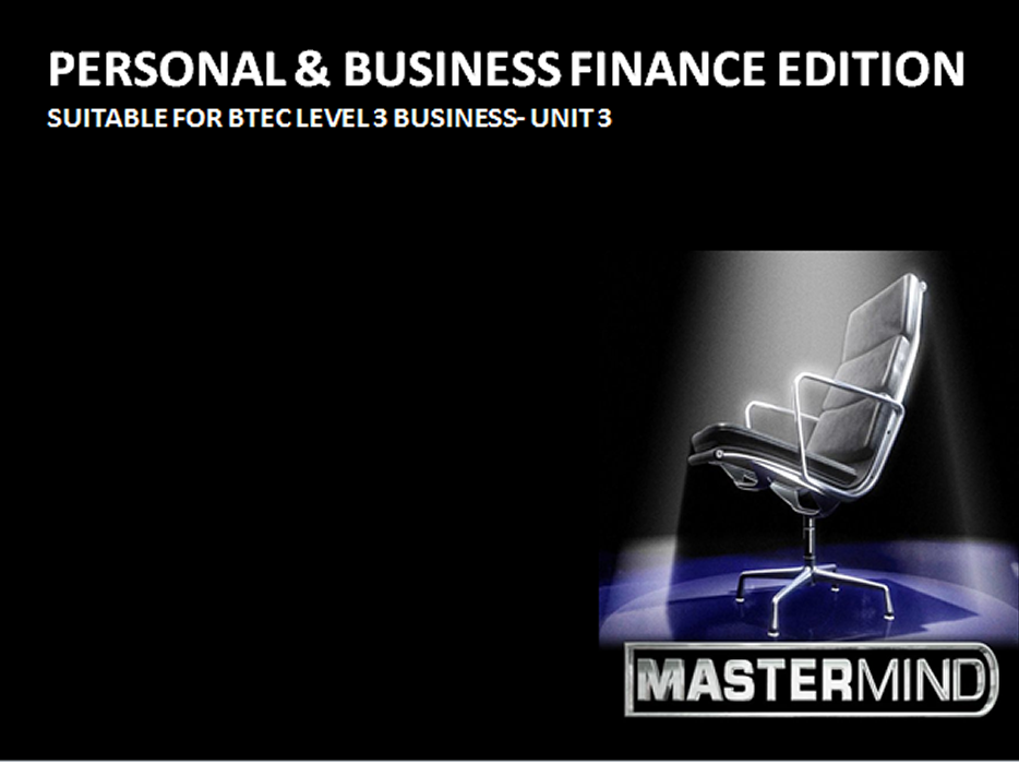 Mastermind Game- Personal and Business Finance