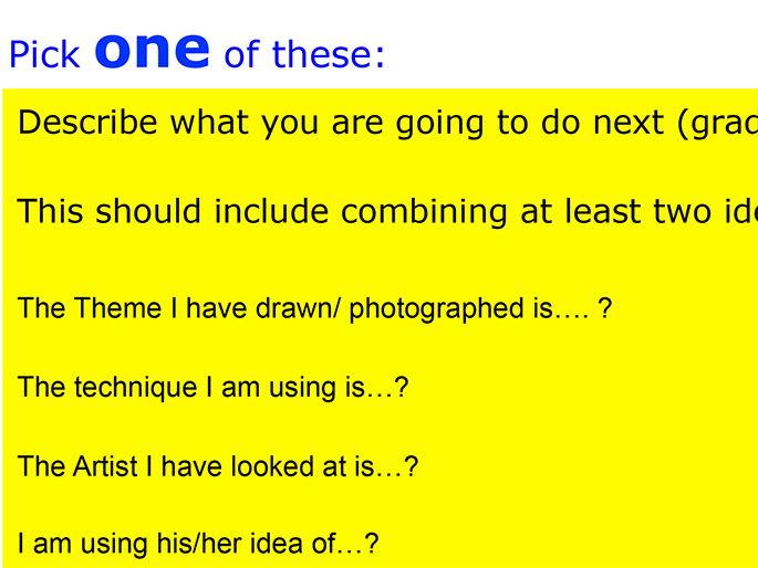 GCSE  Art & Design Planning sheet
