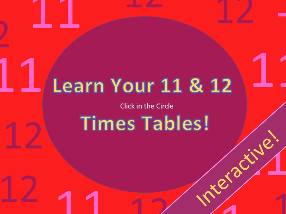 Learn Your 11 & 12 Times Tables