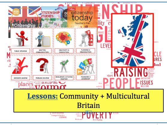 GCSE Citizenship (9-1) Topic: Community and Multicultural Britain Lessons
