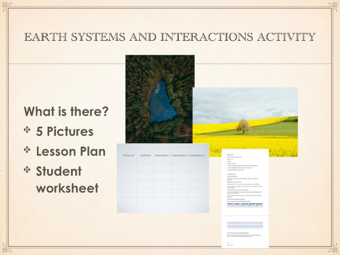 Earth Systems and Interactions Visual Activity