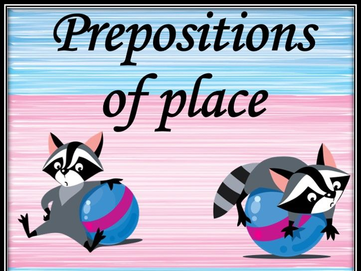 Prepositions of place. Posters.