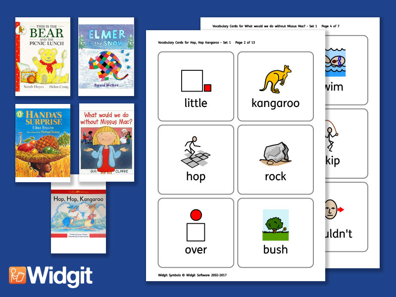Big Books Pack 1 - Flashcards with Widgit Symbols