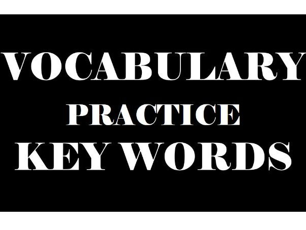 VOCABULARY PRACTICE KEY WORDS 13