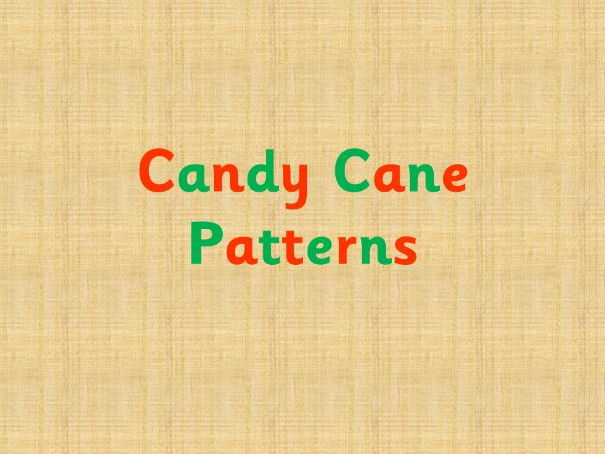 Candy cane repeating patterns