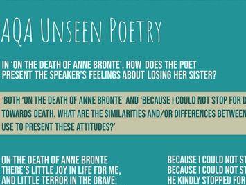 AQA GCSE Unseen Poetry: Death