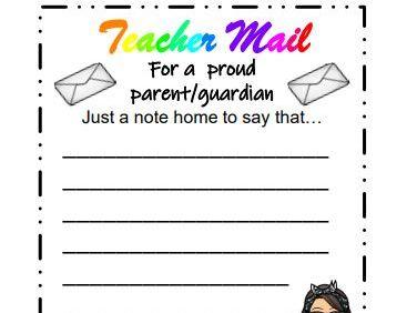Teacher Mail Cards