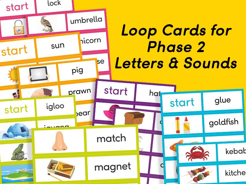 Phonics Loop Cards (Phase 2, Set 1-5)