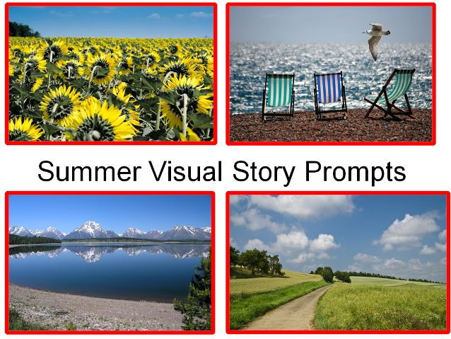 Summer Photos + Creative Writing Visual Story Prompts + 31 Fun Teaching Activities For The Classroom