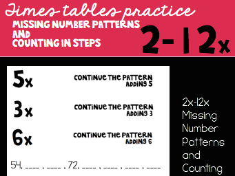 Patterns and Steps Sheets for 2x-12x