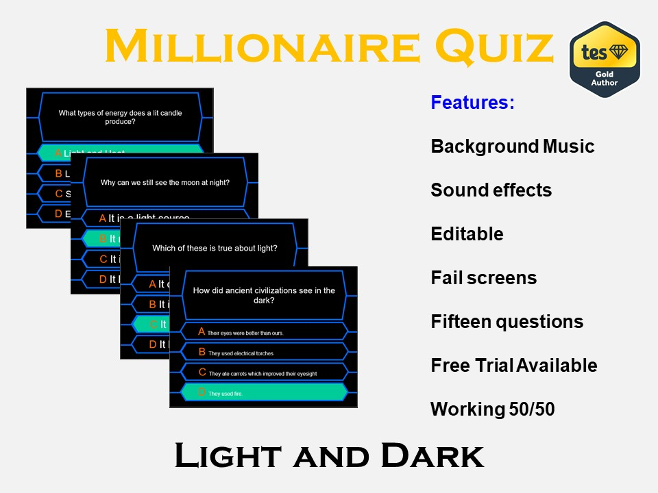 Millionaire Quiz! (Light and Dark)