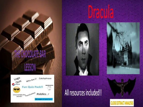 The Chocolate Bar Lesson + Dracula + Fun Quiz Pack