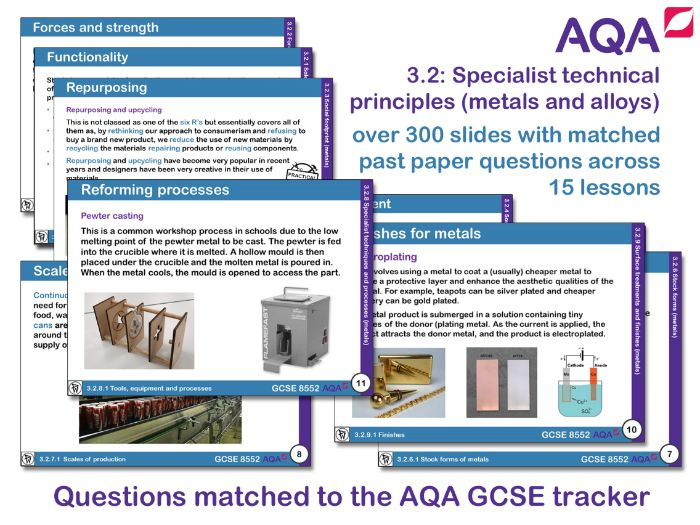 AQA GCSE Design and Technology 3.2: Specialist technical principles (Metals and alloys)