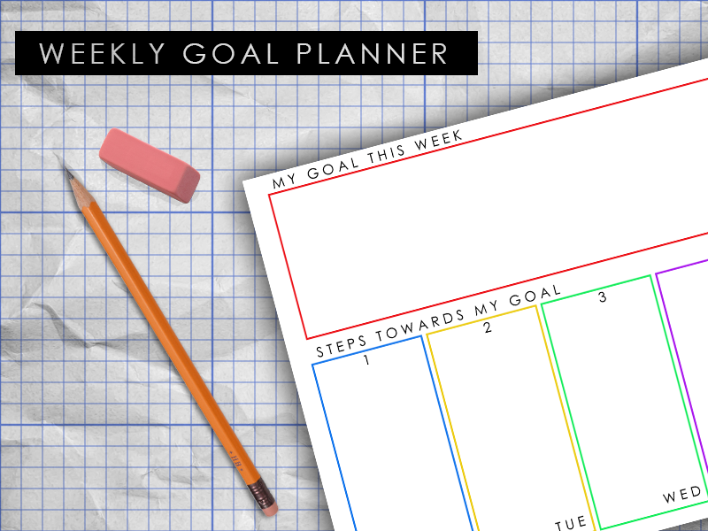 photo regarding Weekly Goal Sheet named Weekly Function Planner - Aim Sheet through DifferentiatedLearning