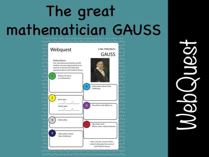 CARL FRIEDRICH GAUSS maths and Science WebQuest