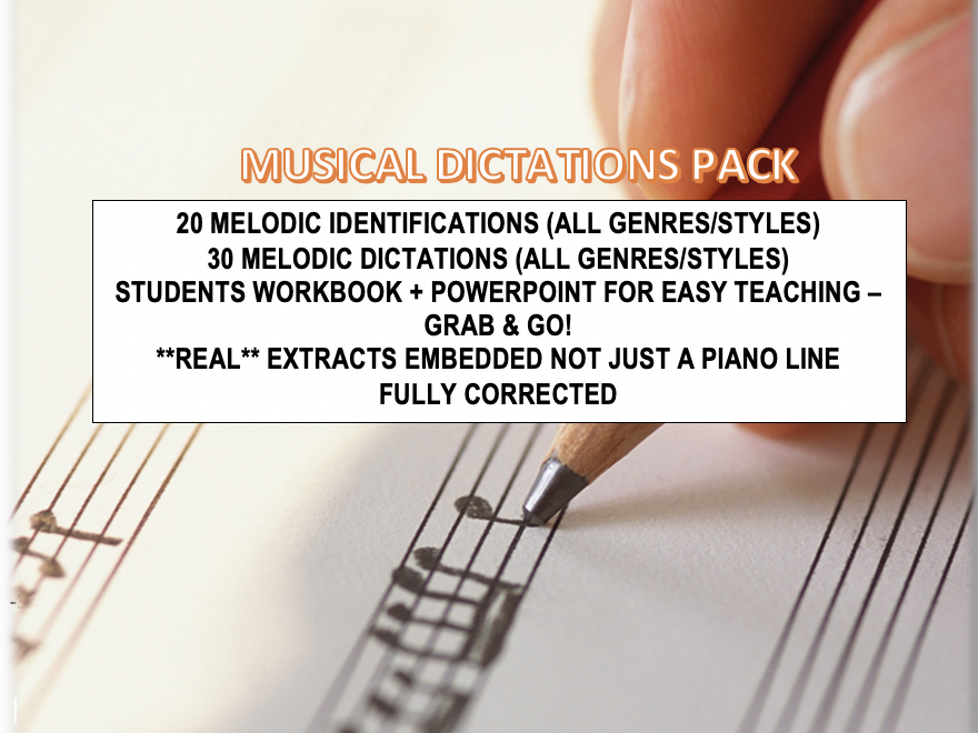 MELODIC DICTATIONS + MELODY IDENTIFICATIONS PACK (audio included)