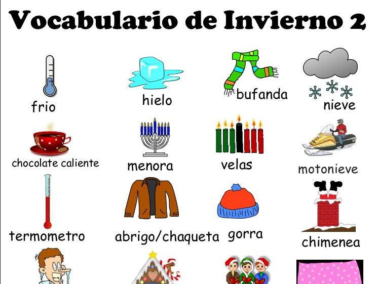 Winter Activities Bilingual 2