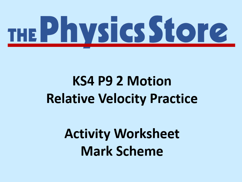 KS4 Physics P9 2 Velocity and Acceleration Practice Worksheet and ...