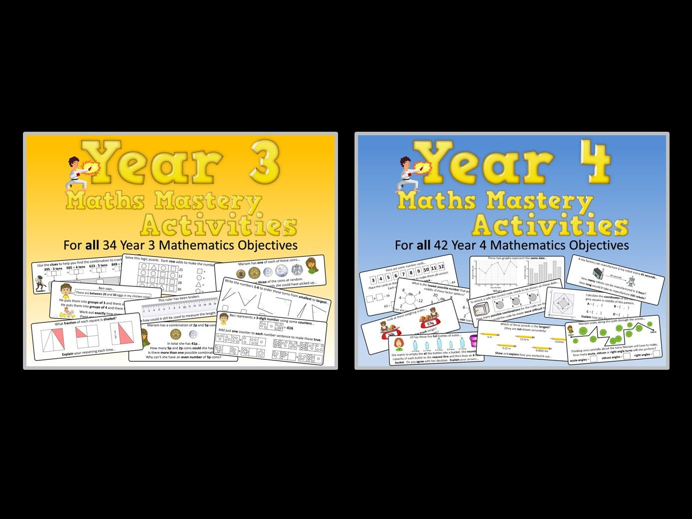 Year 3 AND Year 4 Maths Mastery Pack