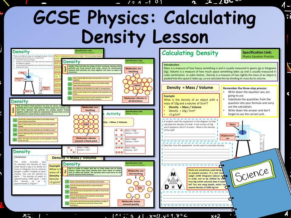 New AQA GCSE Physics (Science) Density Lesson