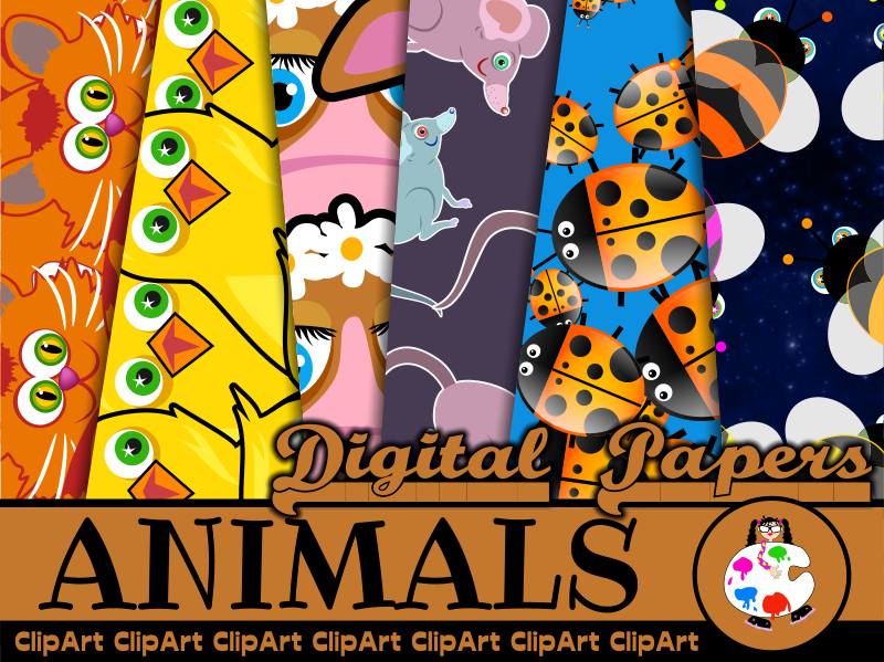 Free Wild Animal Clip Art Papers