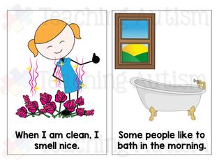Having a Bath Social Story