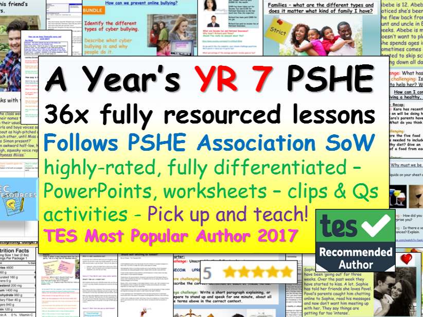Year 7 PSHE + RSE - Complete