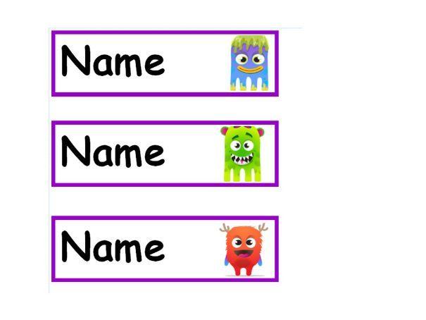 Dojo Tray Labels