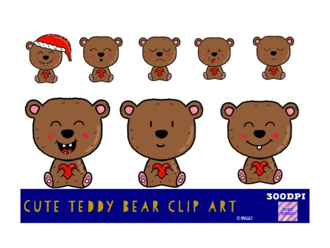 Cute Teddy Bear Clip Art